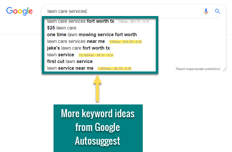 how to do keyword research google autosuggest